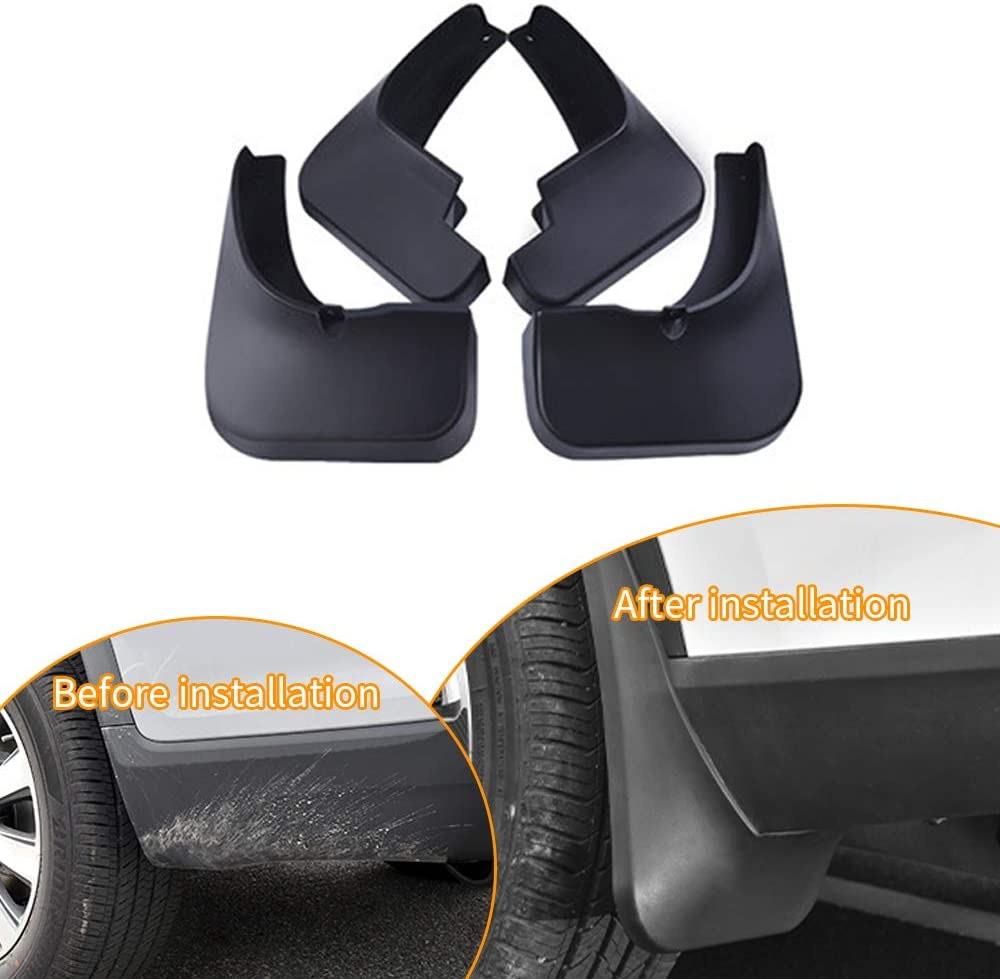 Upgraded Tire Mud Flaps Auto Splash Guards for 2015-2017 Hyundai Ix25 Front Rear Mudguards Wheel Accessories Styling /& Body Fittings 4Pcs Black