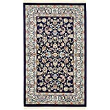 Unique Loom Narenj Collection Classic Traditional Medallion Textured Navy Blue Area Rug (3' x 5')