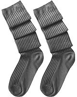 Ularma Streifen Gestrick Kniestrümpfe Baumwolle Overknee Über Knie Strümpfe 60-80cm für Damen Mädchen