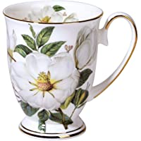 jycous Bone China Coffee Mugs - Fashionable Simple Ceramic Milk Mug Classical Retro Breakfast Water Coffee Cup Tea Cup…