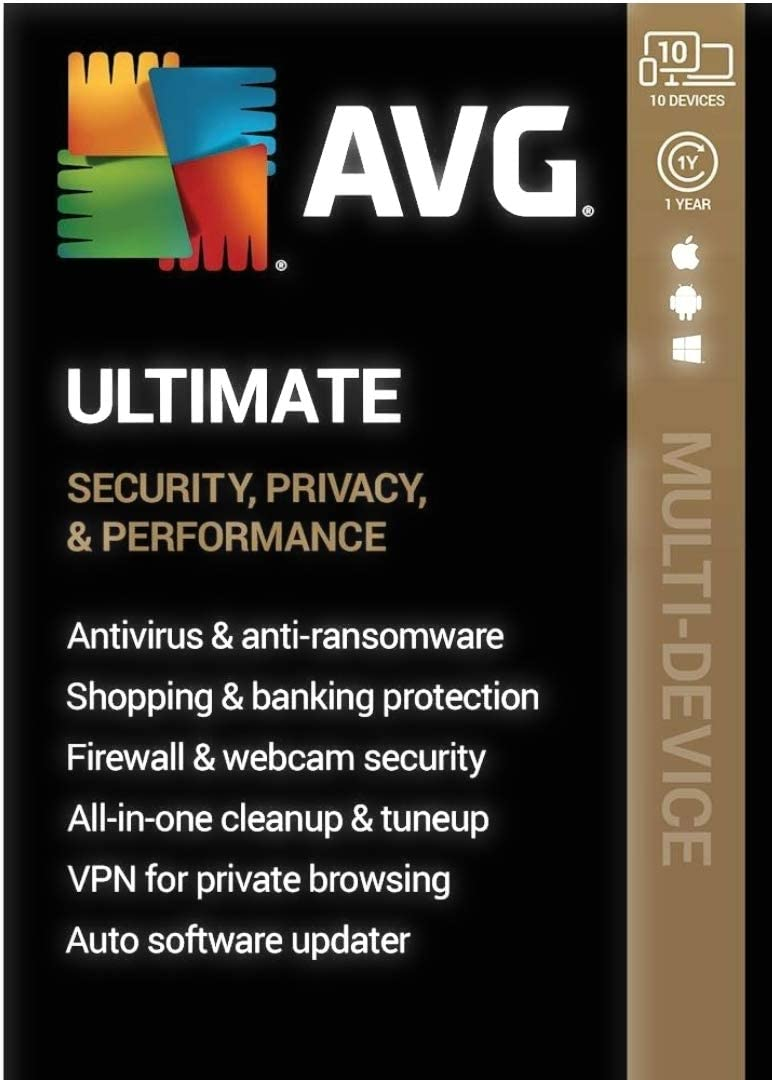- Android|Mac|Windows AVG Ultimate 1-Year Subscription 10 Devices