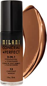 Milani Conceal + Perfect 2-in-1 Foundation Concealer 1 Ounces Chestnut