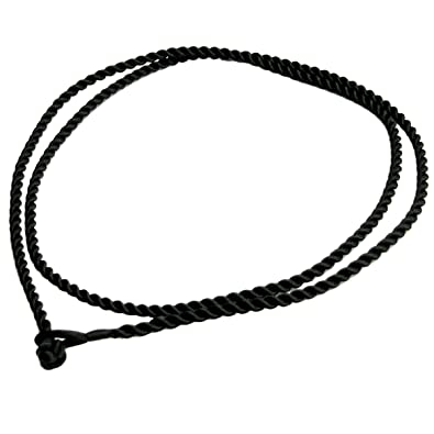 Amazon chinese hand knotted black 2mm silk pendant braided cord amazon chinese hand knotted black 2mm silk pendant braided cord choker necklace for european bead charm 18 inches jewelry aloadofball Choice Image
