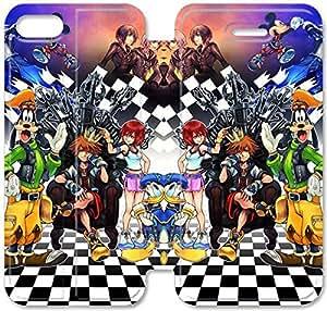 Gemma Ehritz® Only Authorized Official Brand Boutique Shop,Leather Case Funda iPhone 5C Funda , caja de cuero de la cubierta del estilo del tirón genuino con el soporte Característica Diseño T436DBL Kingdom Hearts Alta Definición. H434UAX Remix para las muchachas adolescentes y los hombres