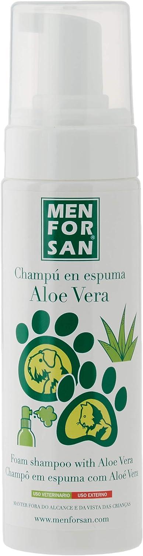 MENFORSAN Champú en Espuma con aloe Vera - Perros Y Gatos - 200 ml