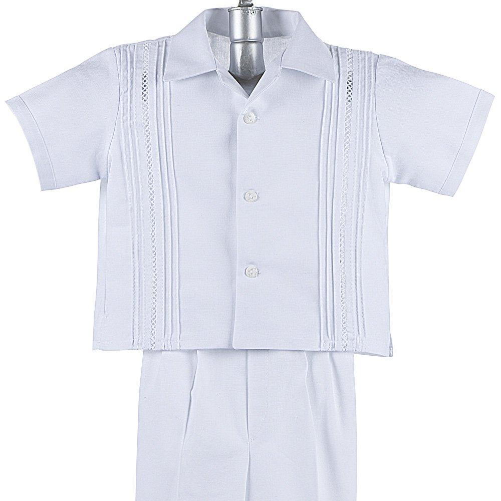 Mexican Wedding Shirt Boys Guayabera Shirt Boys Baptism Shirt w// Pants Set Cotton Guayaberas style 908