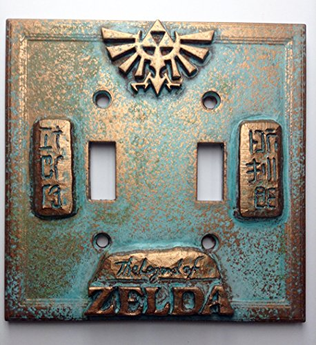 Legend of Zelda Double Light Switch Cover (Patina)