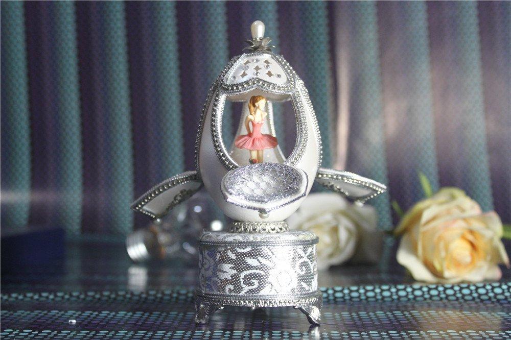 人気ブランドを B01H8NU0II女の子のためのオルゴールイースターエッグ卵殻 オルゴールバレリーナダンスバレエ B01H8NU0II, のんた靴店:63f6cf36 --- arcego.dominiotemporario.com