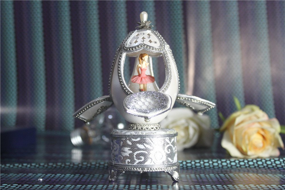 Music Box For Girls Easter Egg Artists Musicbox Eggshell Art Music Box Ballerina Dance Ballet
