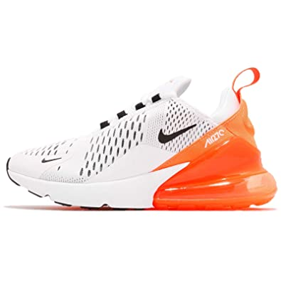 quality design e83cf 94726 Amazon.com   Nike Air Max 270 Just Do It Womens Womens Ah6789-104 Size 5  White Black-Total Orange   Fashion Sneakers