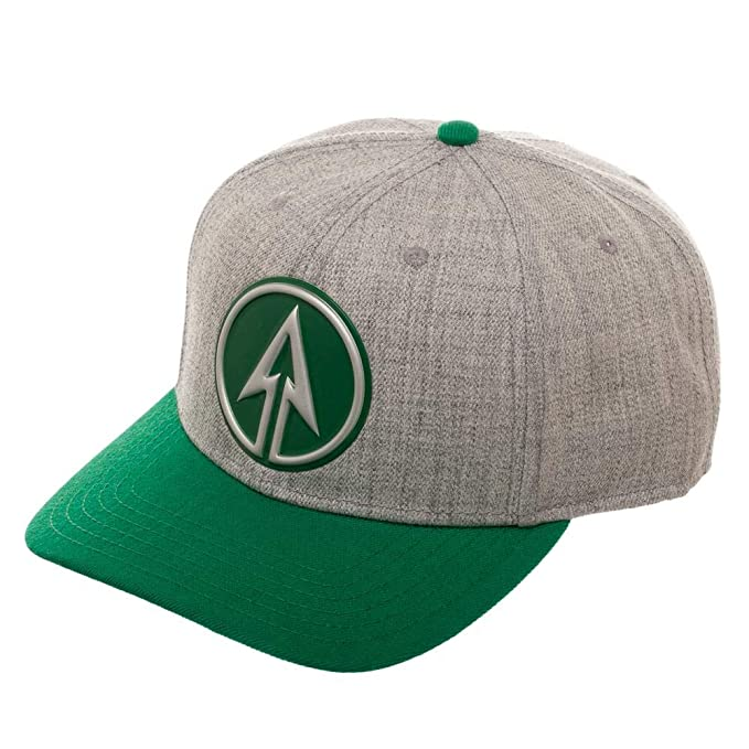 detailed look 4f123 96bb5 Image Unavailable. Image not available for. Color  DC Comics Green Arrow  Pre-Curved Bill Snapback Hat