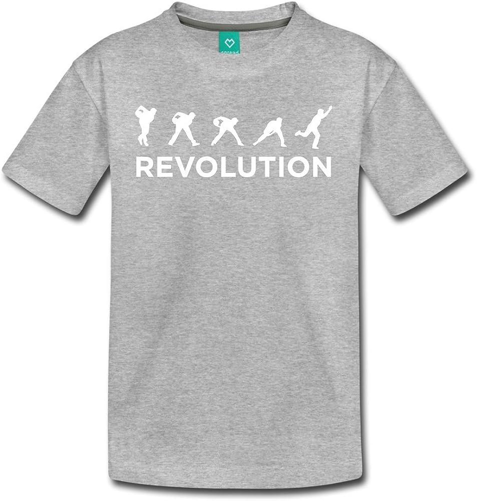 ATHLETE ORIGINALS Little Boys Premium T-Shirt Belmo Revolution by Jason Belmonte Youth M Heather Gray