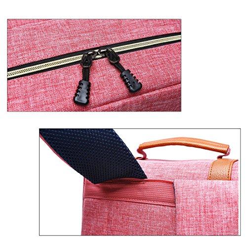 Scheppend Vintage Laptop Rucksack, Rucksack Canvas College Rucksack Schulbeutel für Jungen, Mädchen Passend für 15-Zoll Laptop Blue Marine