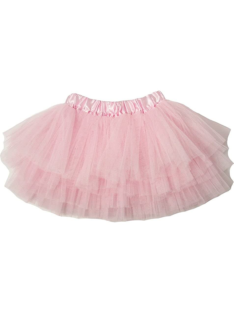 Little Girls Light Pink Satin Elastic Waist Triple Layer Ballet Tutu Skirt 2-8Y Dress Up Dreams Boutique