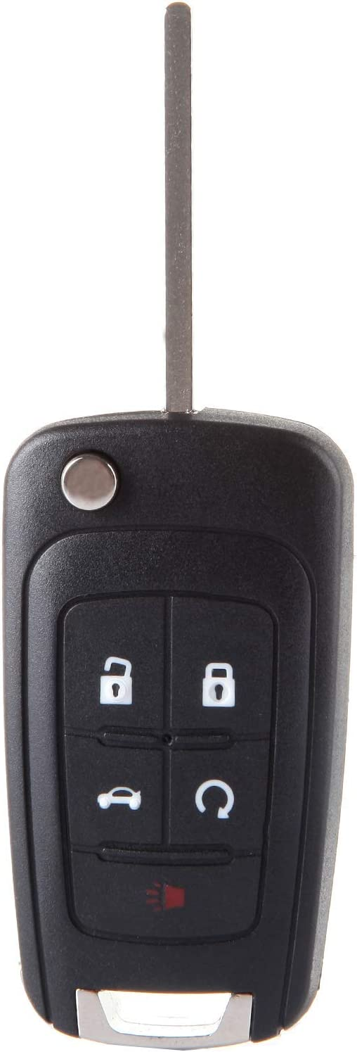 ROADFAR 5 Buttons Car Key Fob Keyless Entry Remote Shell Case Uncut Replacement fit for 13-17 for Buick for Chevrolet for GMC Pack of 1 5461A-01060512