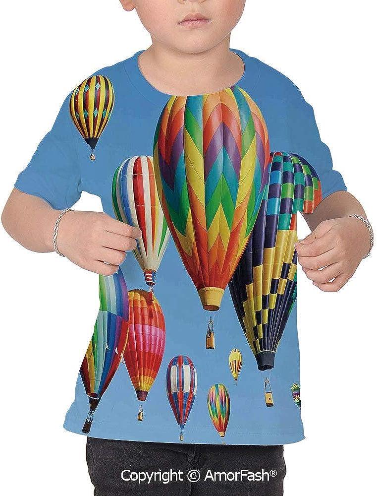 Colorful Home Decor Girls Short-Sleeve Midweight T-Shirt,Polyester,Nostalgic Hot