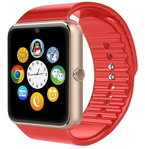 GT08 Bluetooth Reloj inteligente con ranura para tarjeta SIM y NFC Smart salud reloj para Android