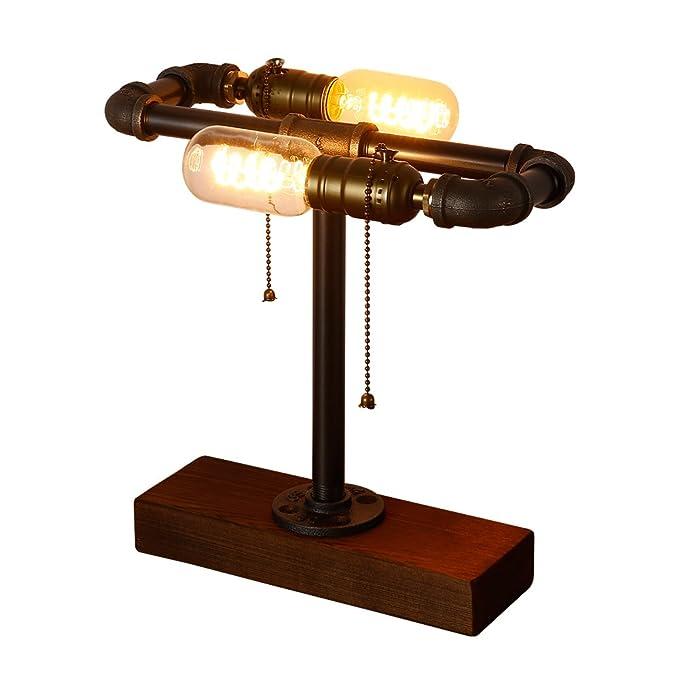 1 opinioni per INJUICY Retro Industriale E27 Edison Ferro Battuto Tubo Dell'acqua Lampada da