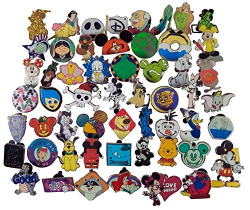 Disney Pin Trading Lot of 50 Assorted Pins - No Doubles - Tradable - Brand NEW ()