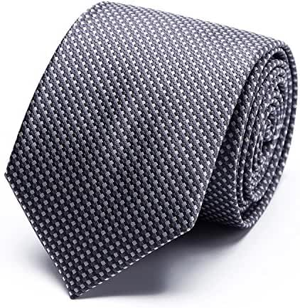 XIANGUO Mens Solid Tie Fashion & Business Necktie For Man (Multiple Colors + Gift Box )