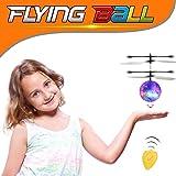 Mini RC Fliegende Kugel Hubschrauber mit Farbwechsel LED-Leuchten von Cosyzone, Infrarot-Induktionsflugzeug Built-in Shining Beleuchtung mit Hand Sensing Suspension für Kinder Kinder Jugendliche als elektronisches Spielzeug (Crystal-Ball Style)