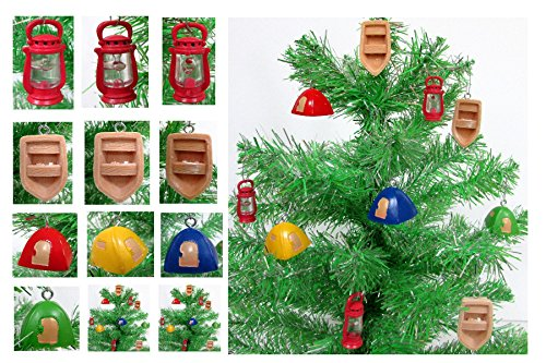 Nature CAMPING 10 Piece MINI Christmas Ornament Set - MINI Shatterproof Ornaments from 1