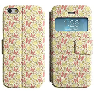 LEOCASE Mariposas Y Vestidos Funda Carcasa Cuero Tapa Case Para Apple iPhone 5 / 5S No.1000131