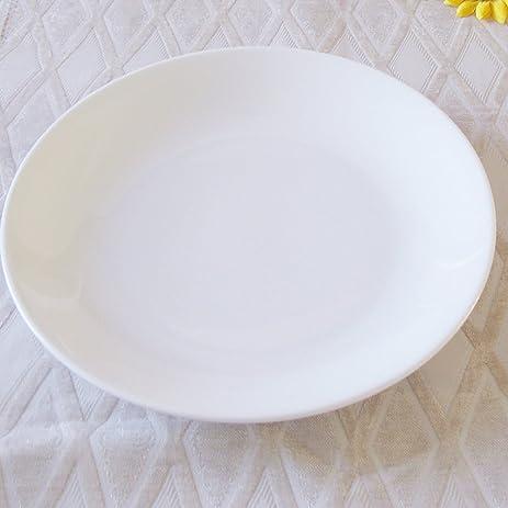 Dauerhaft Dinnerware 11 1/2u0026quot; Dinner Serving Plate/Buffet Plate White Porcelain & Amazon.com | Dauerhaft Dinnerware 11 1/2