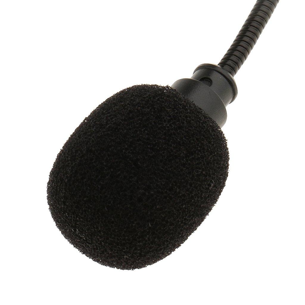 Negro FLAMEER Micr/ófono de Diadema Profesional 3 Pines 4 Pines 3,5 Mm con Doble Gancho para Oreja con Cable Negro 4 Pin