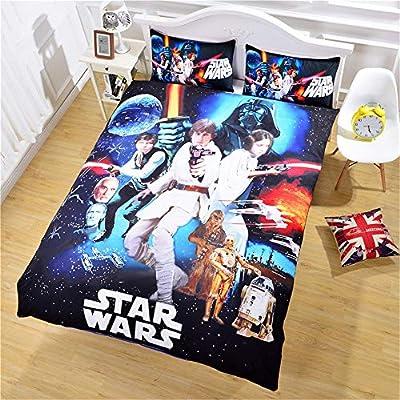 Swedife 3D Printed Star War Duvet Cover Set 100% Polyester Fiber Kids Bed Set 3-Piece Including 1Duvet Cover 2Pillowshams King Queen Full Twin Size