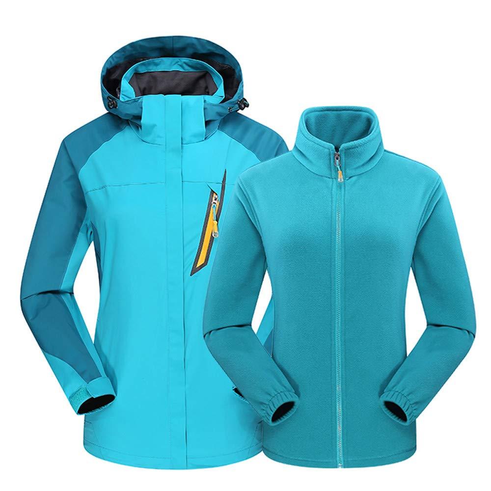 Linlink Equipo al Aire Libre de Las Mujeres Dos Piezas Exterior Tres en una Capa Impermeable Caliente Transpirable Outwear: Amazon.es: Ropa y accesorios