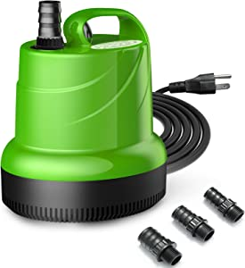 Lefunpets 79-925 GPH Submersible Water Pump, Ultra Quiet Fountain Pump with 6.5 Feet Power Cord, Fish Tank Pump for Pond Aquariums Hydroponics Fish Tank Garden Fountain Waterfall