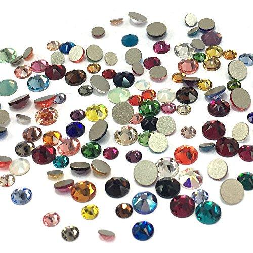 Assorted Mix Colors 2088 Xirius Swarovski Crystal Mixed Sizes ss12 ss16 ss20 Flatbacks No Hotfix Round Rhinestones