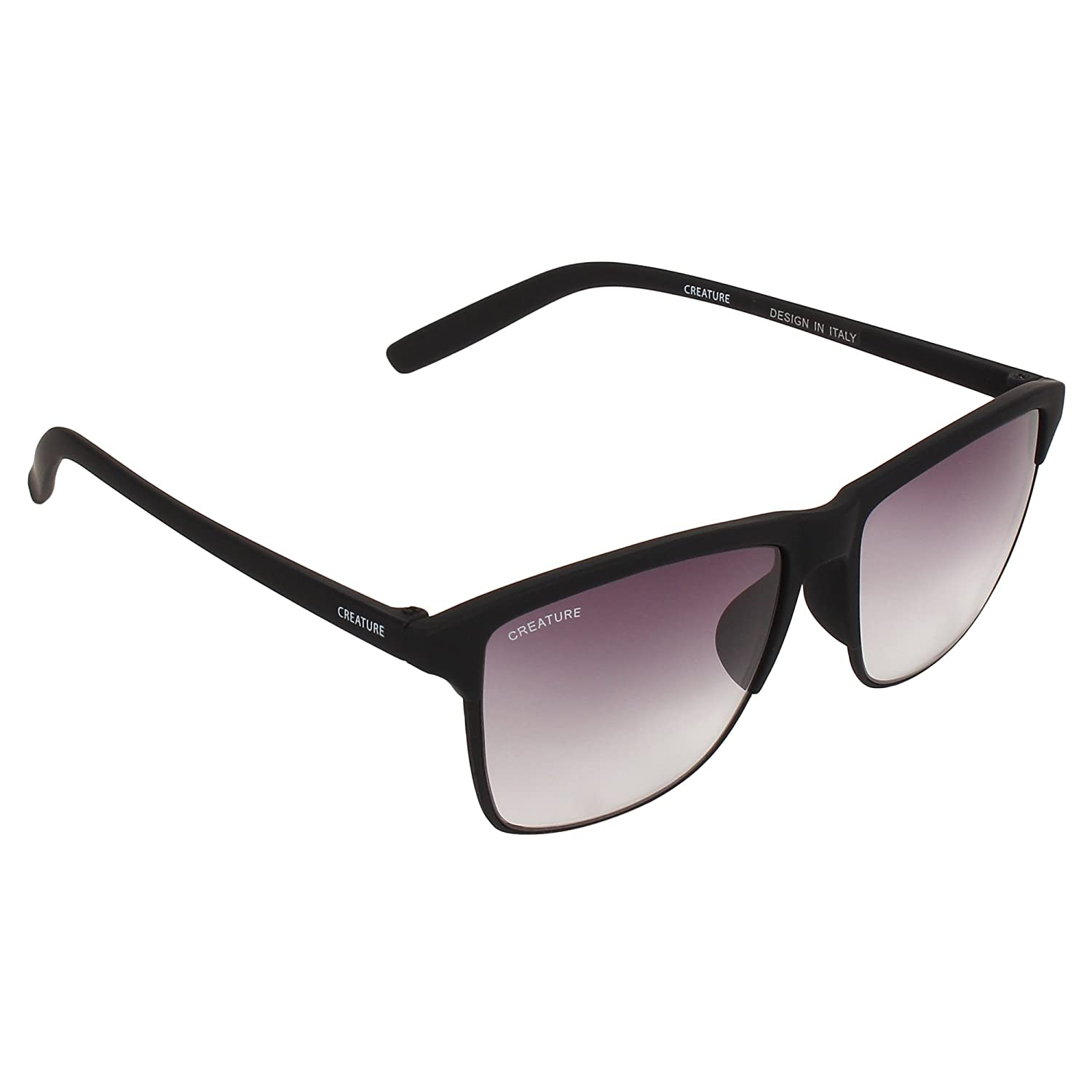 Creature Uv Protected Wayfarer Unisex Sunglasses(Doit-001|53|Purple)