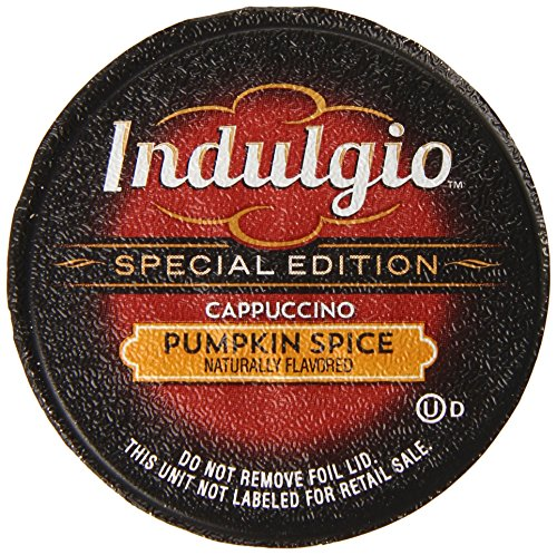 Indulgio Pumpkin Spice Cappuccino Special Edition for Keurig K-Cup Brewers, 12 Count (Pack of (Special Edition Brewer)