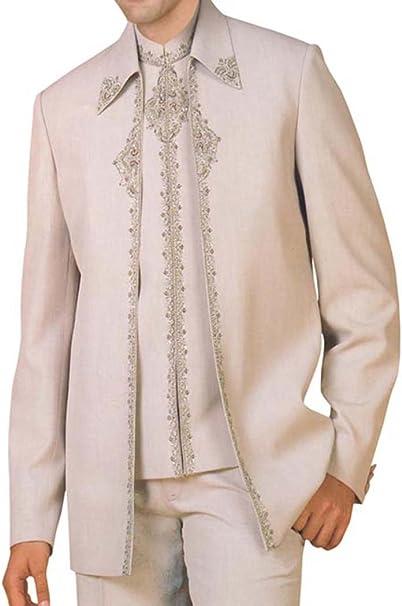 INMONARCH Almendra Hombres 3 pc FiestaVestir Moda traje de boda ...