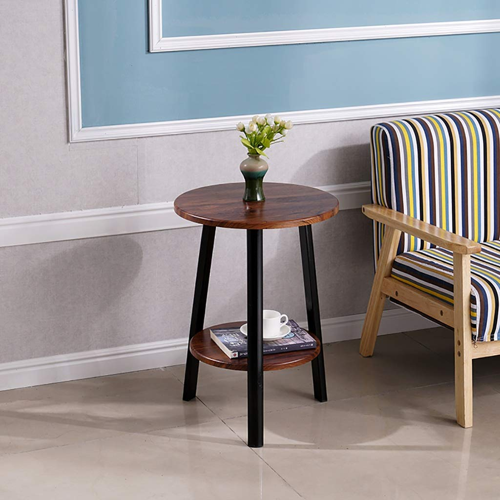 Garde Small Round Table, Simple Mini Bedroom Modern Household Small Coffee Table, Wrought Iron Creative Casual Negotiation Small Table (Color : B, Size : 705060CM) by Garde