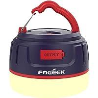 FOGEEK Linterna portátil para acampar, luz de mini carpa recargable, luz cálida, luz de noche, luz de emergencia, banco…