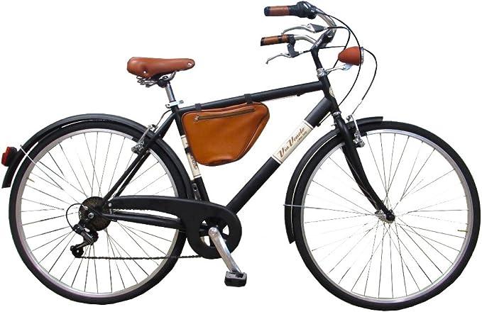 Via Veneto Bicicleta Clasica Retro Vintage - Caffe Racer Uomo Nero ...