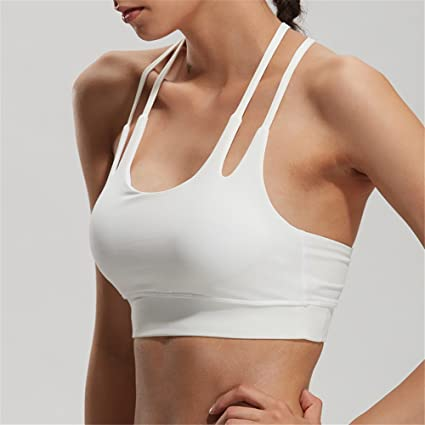 Comfort Bra Mujeres Niñas Sujetador de absorción de Choque de Banda Doble de Yoga Sujetador de