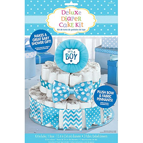 """It's a Boy"" Deluxe Diaper Cake Decor Kit 