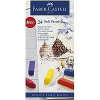 Giz Pastel Seco Macio Curto Goldfaber 24 Cores, Faber-Castell
