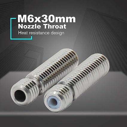 M6x30mm teflón garganta de la tobera Extrusora para MK8 tubo ...