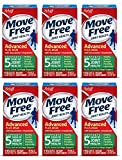 Move Free Advanced Plus MSM, 120 tablets - Joint Health Supplement with Glucosamine and Chondroitin , 6 Pack