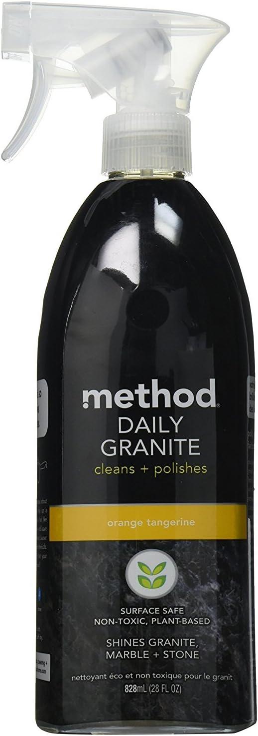 Method 482-S-F9 Daily Granite Cleaner, Orange Tangerine, 28 Ounce (2)