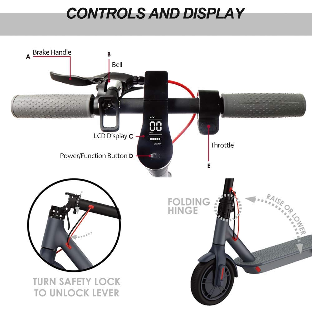 Magicelec Electric Scooter for Adults, 25.7 km Long-Range Battery, 8.5'' Air Filled Tires - 22.5 KPH, Easy Fold-n-Carry Design, Ultra-Lightweigh (US Version with Warranty) Folding Commutin (Gray) by Magicelec