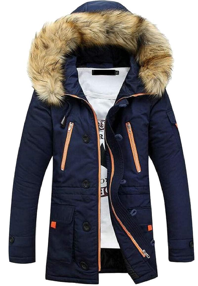 HTOOHTOOH Mens Winter Warm Outdoors Slim Fit Fashion Parka Coat Jacket