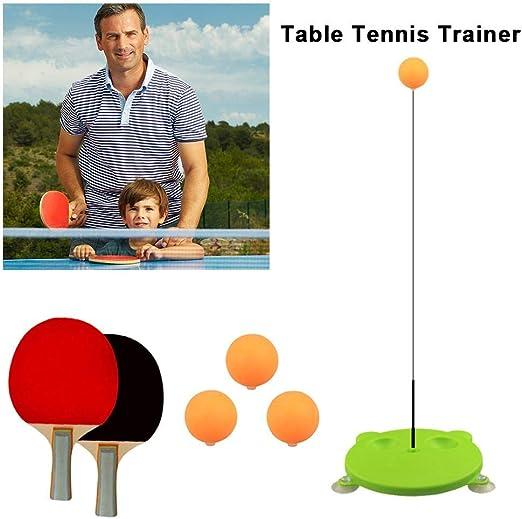 Entrenador de tenis de mesa con elástico, eje suave, dispositivo ...