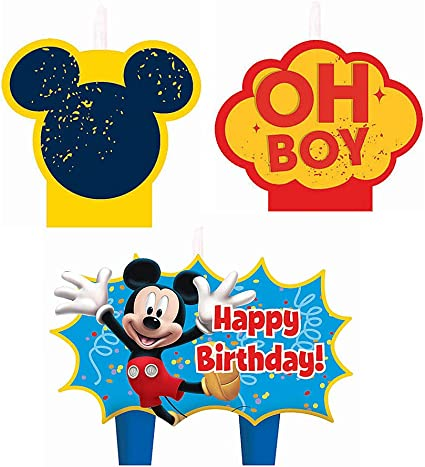 Amazon.com: Mickey Mouse Birthday Candles - Birthday and ...