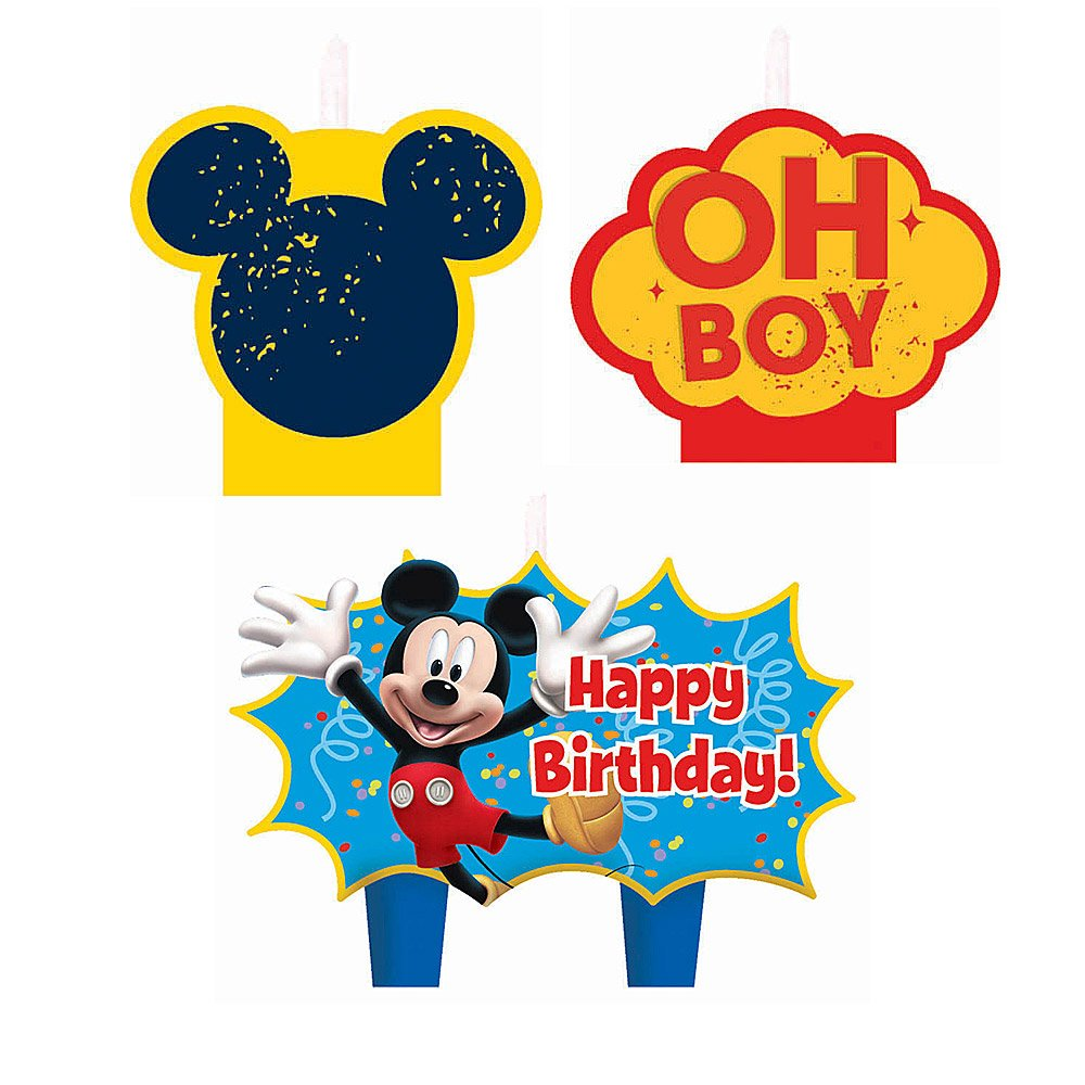 Amazon.com: Vela de cumpleaños de Mickey Mouse – Cumpleaños ...